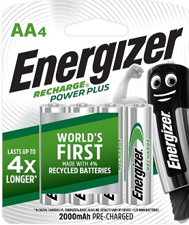 ENR Recharge Powerplus AA 4 Pack