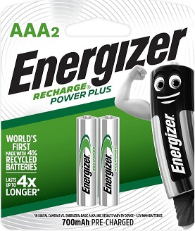 ENR Recharge Powerplus AAA 2 Pack