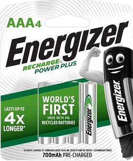 ENR Recharge Powerplus AAA 4 Pack